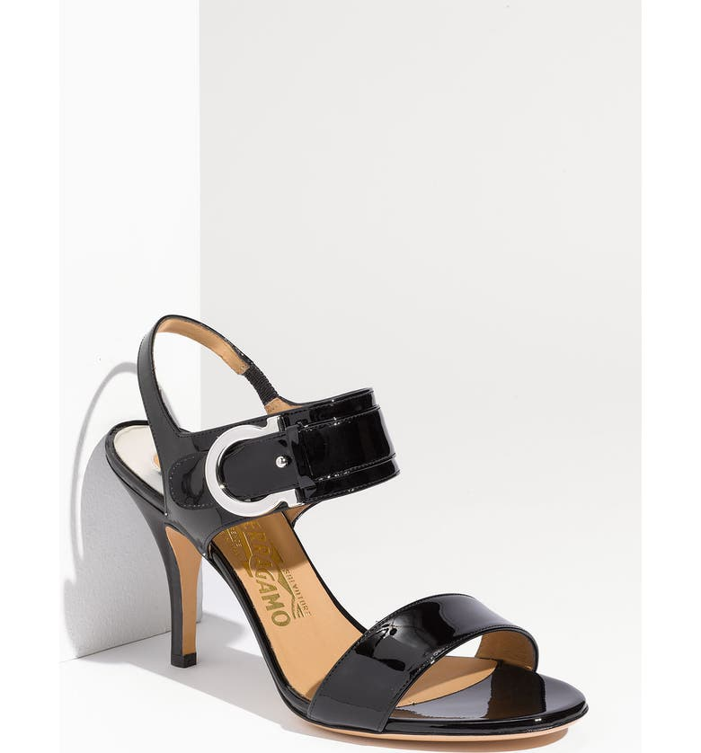 SALVATORE FERRAGAMO 'Brianna' Sandal, Main, color, 001