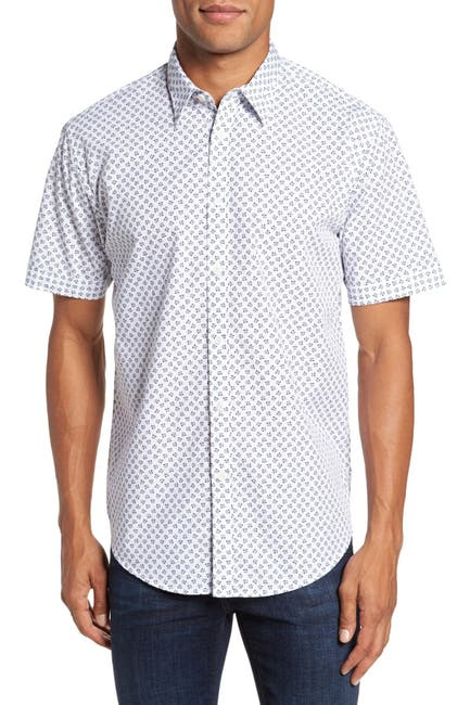 Image of COASTAORO Santo Print Regular Fit Sport Shirt