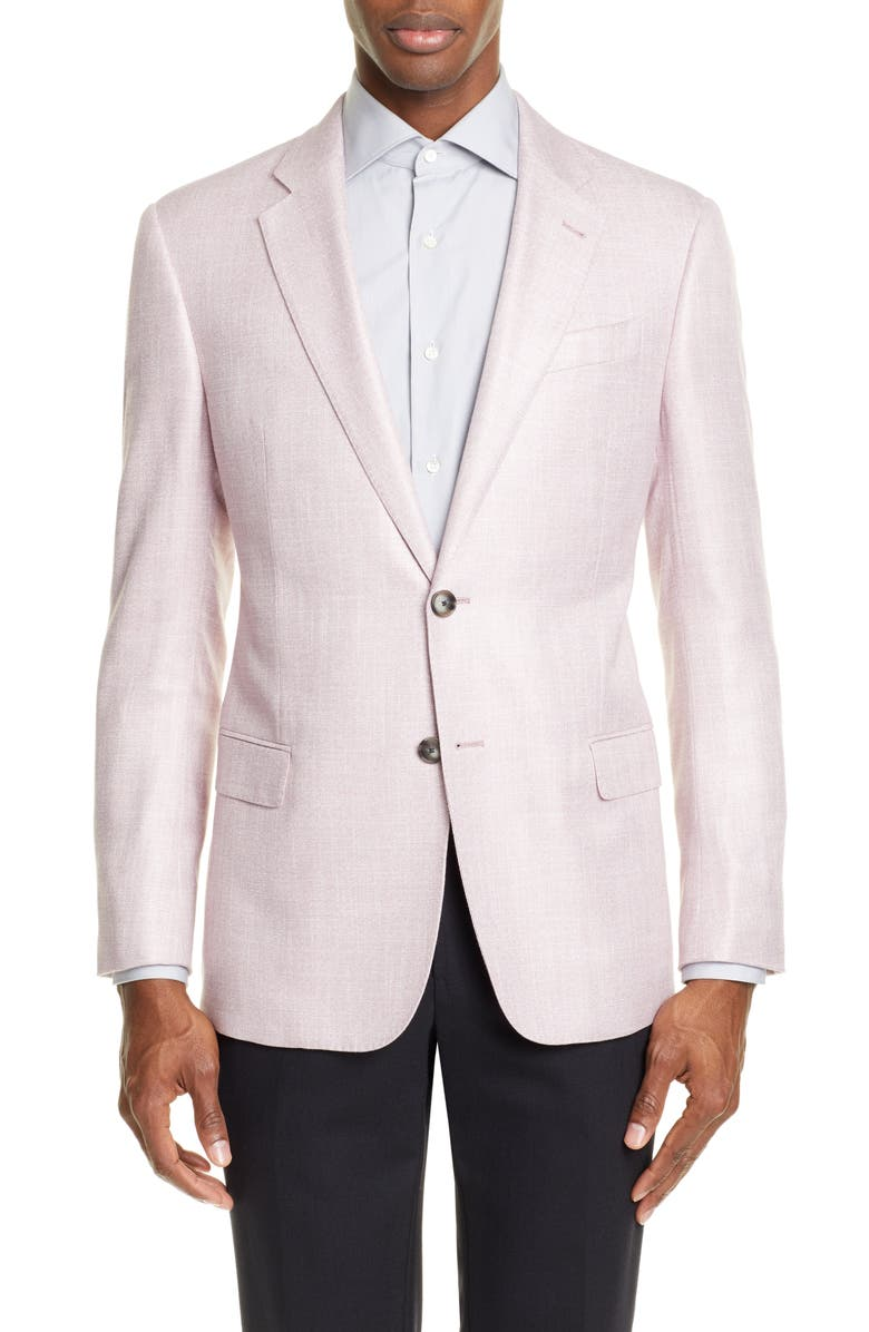 EMPORIO ARMANI Slim Fit Solid Sport Coat, Main, color, 684