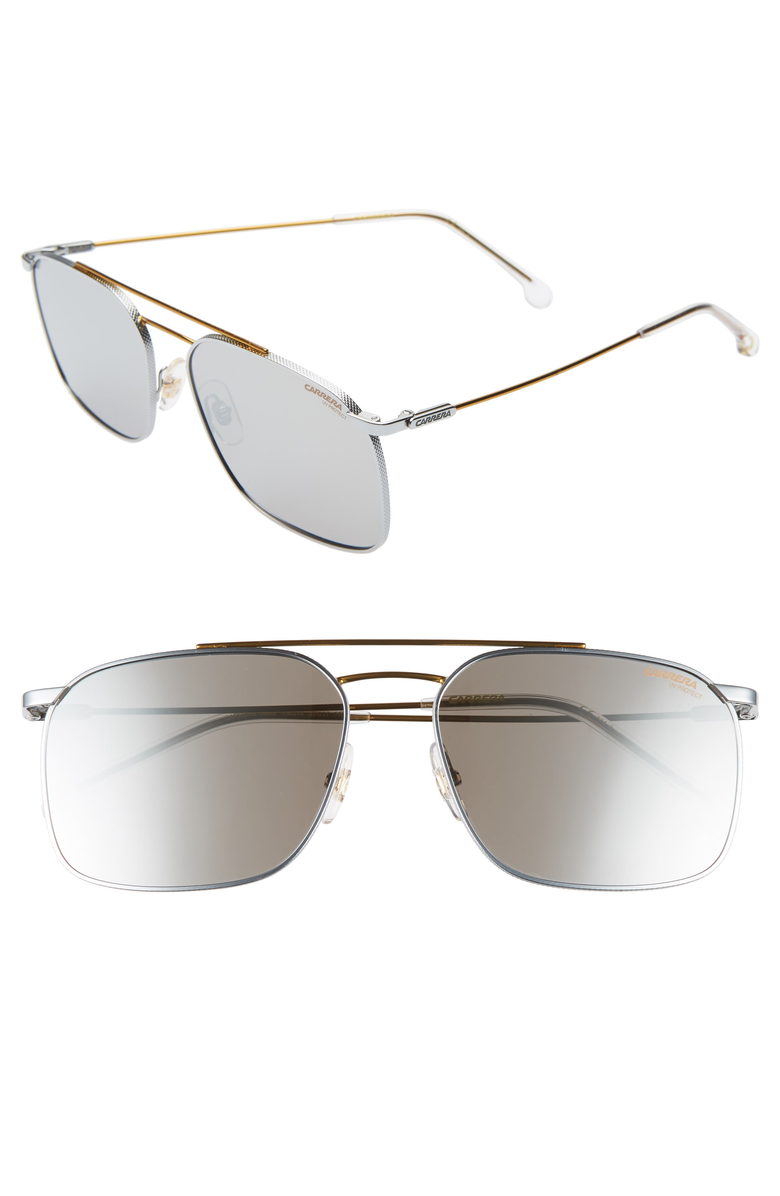 Carrera Eyewear 5m Aviator Sunglasses - Palladium Gold