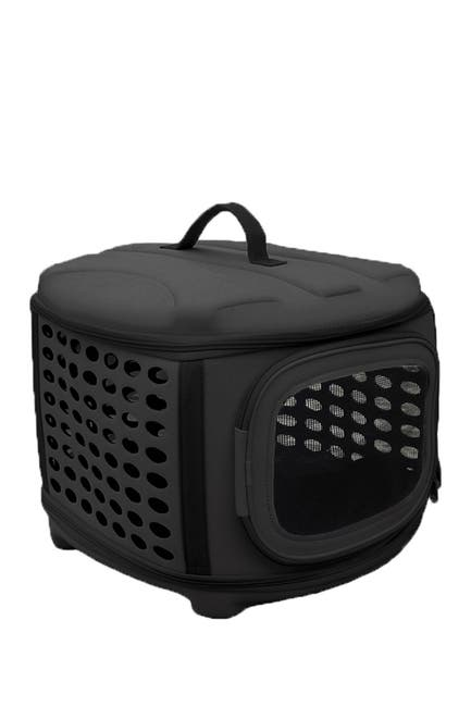 Image of Pet Life Circular Shelled Perforate Lightweight Collapsible Military Grade Transporter Pet Carrier