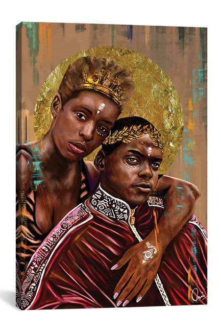 Image of iCanvas Queen And Slim by Crixtover Edwin