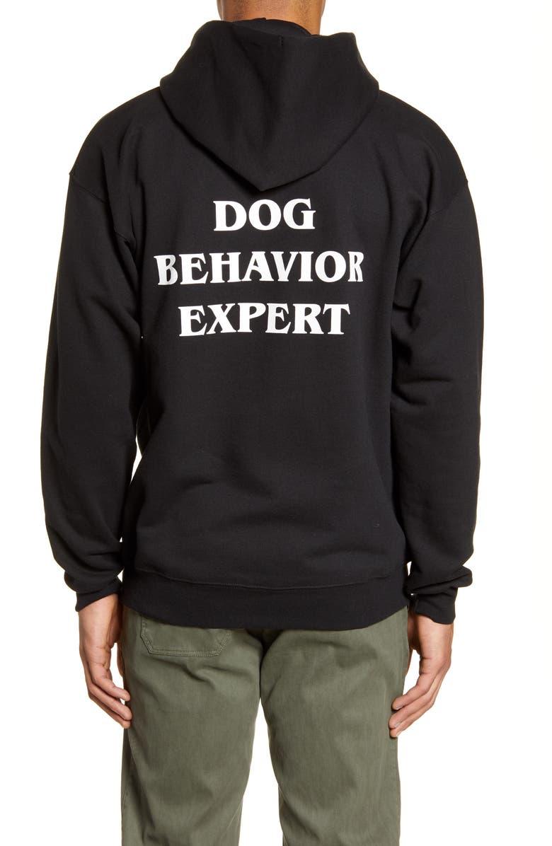 DOG BEHAVIOR EXPERT Hoodie, Main, color, BLACK