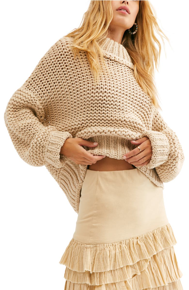 FREE PEOPLE My Only Sunshine Sweater, Main, color, NEUTRAL COMBO