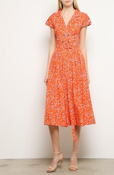 Floral Print Midi Shirtdress, video thumbnail