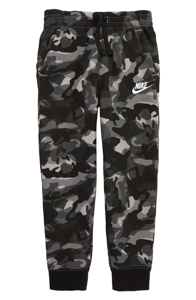 NIKE Print Jogger Pants, Main, color, BLACK