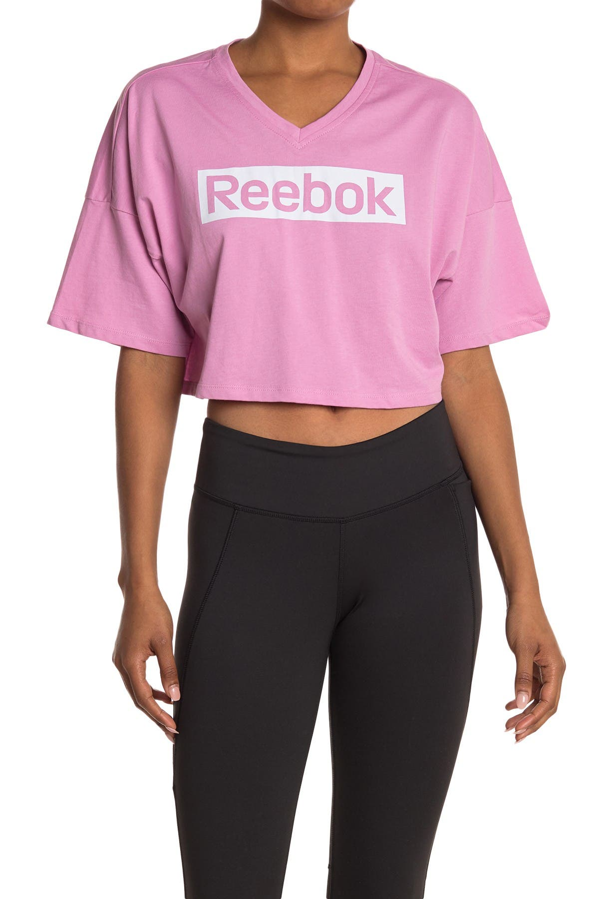 Image of Reebok Linear Logo Cropped T-Shirt