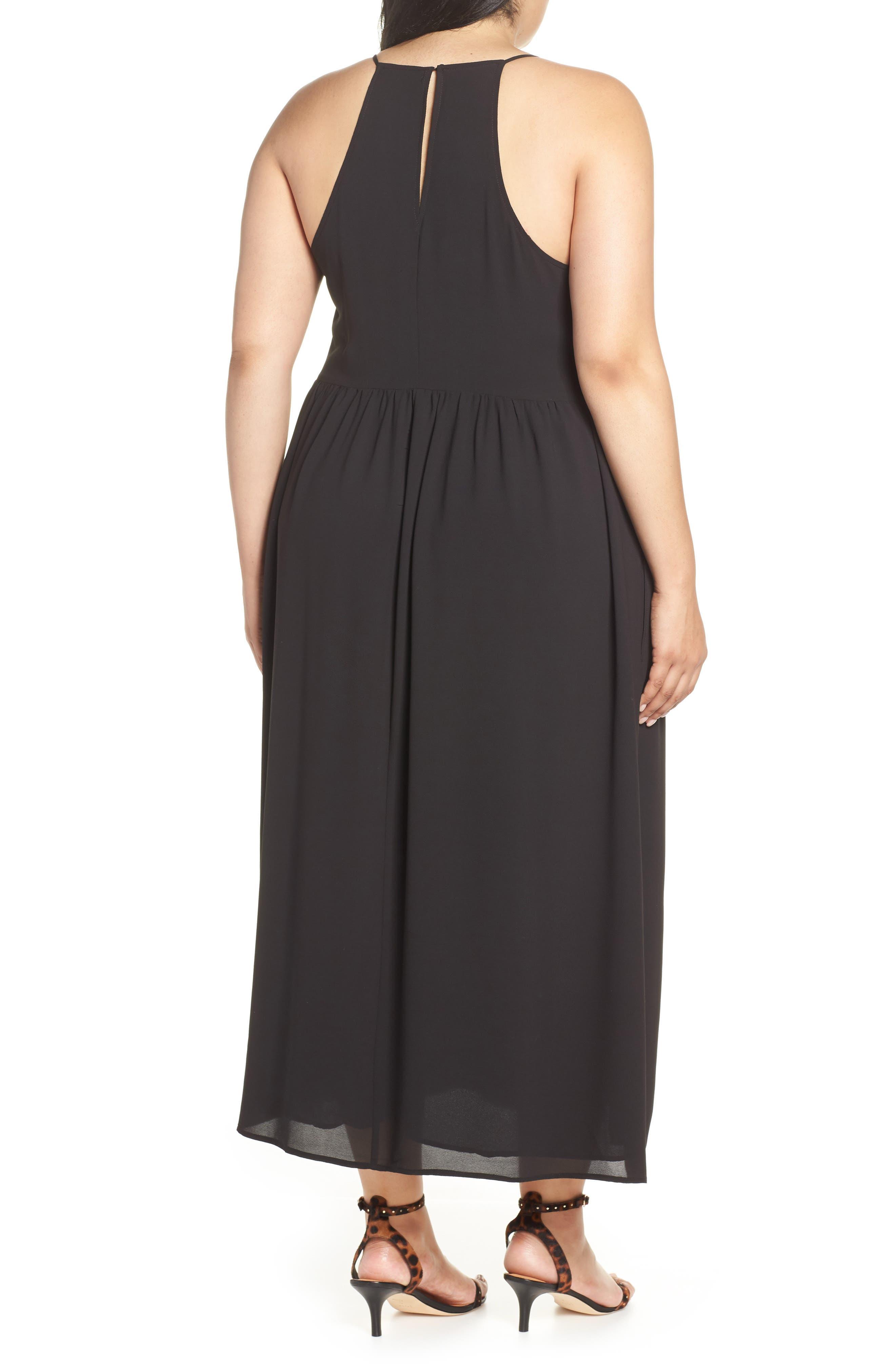 ,                             x Hi Sugarplum! Palm Springs Festival Maxi Dress,                             Alternate thumbnail 2, color,                             BLACK
