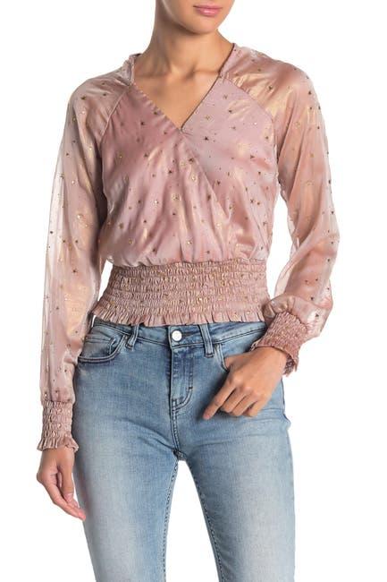 Image of 4SI3NNA Shanie Embellished Star Top
