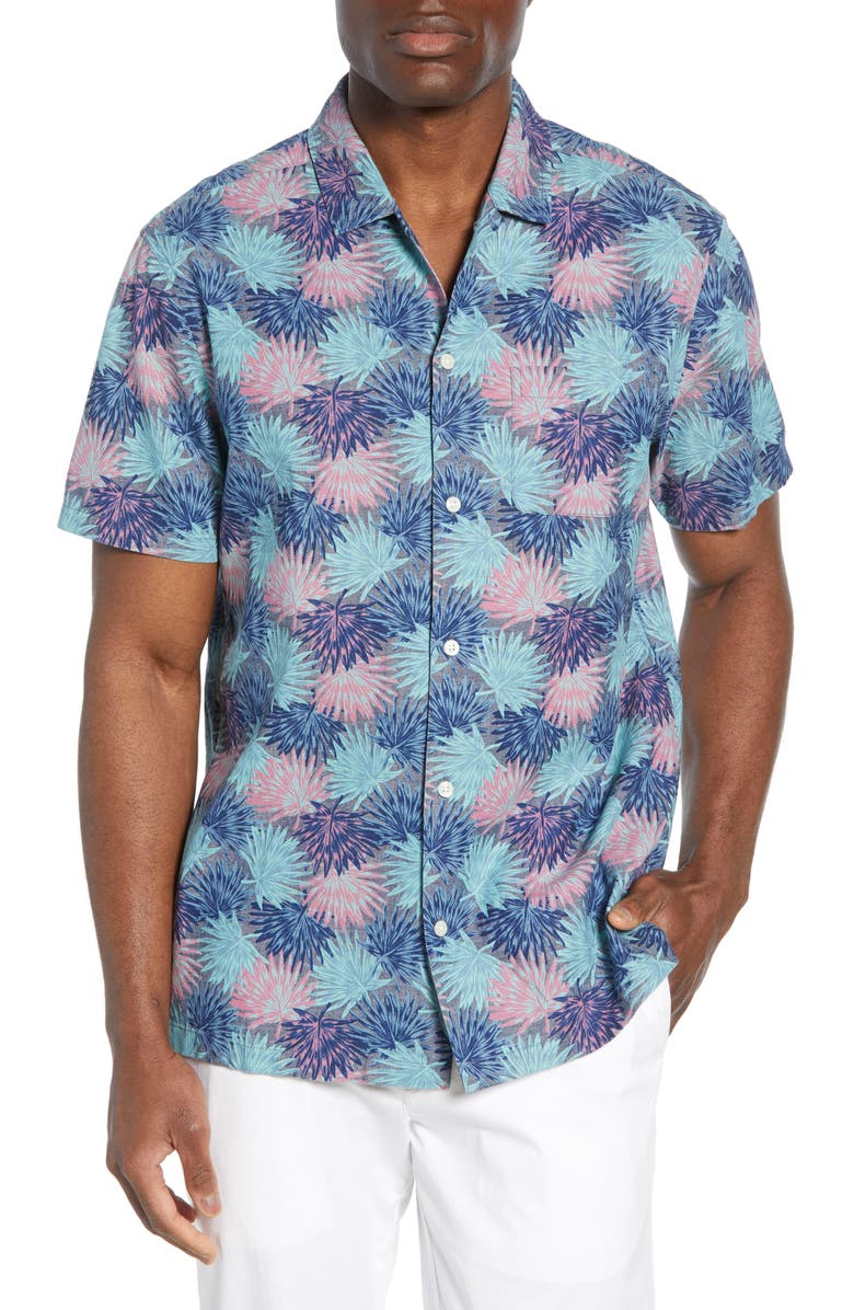 VINEYARD VINES Cabana Regular Fit Floral Chambray Shirt, Main, color, 435