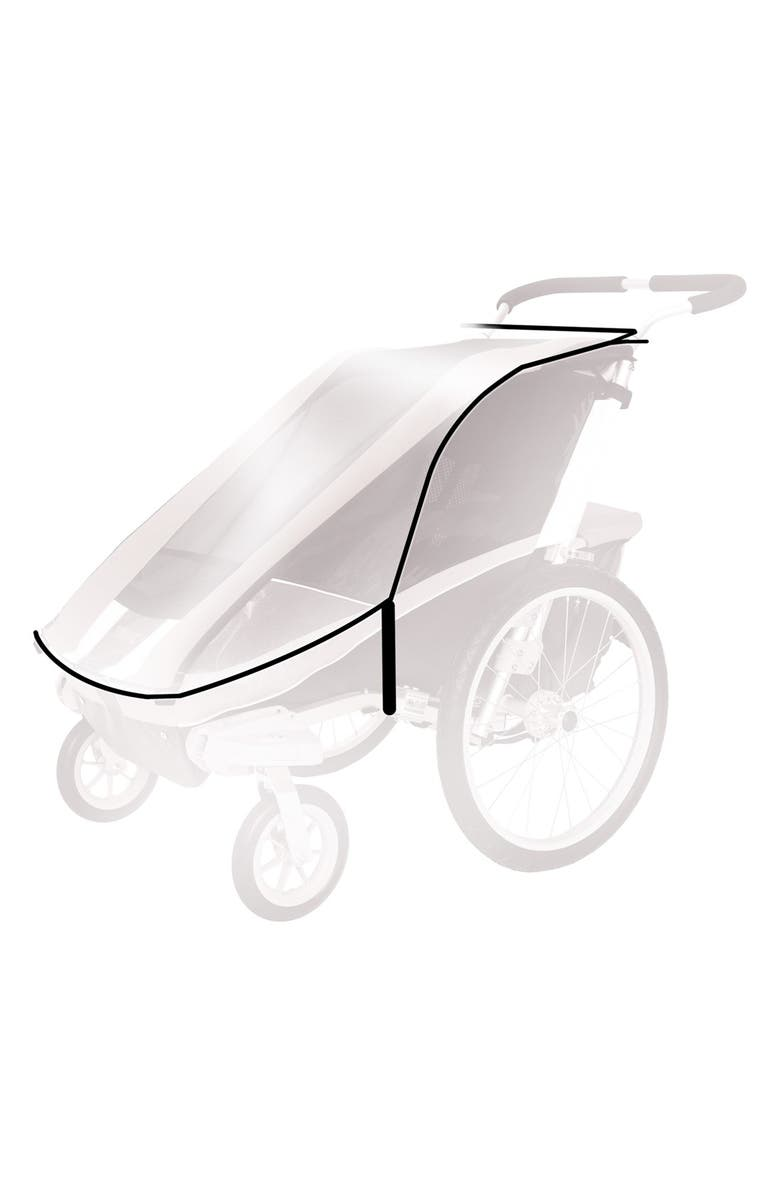 THULE Protective Rain Cover for Thule Chariot Cheetah 1 Stroller, Main, color, BLACK