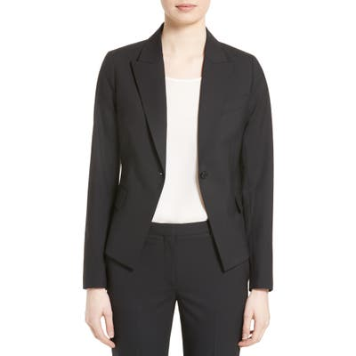 Theory Brince B Good Wool Suit Jacket, Black (Nordstrom Exclusive)