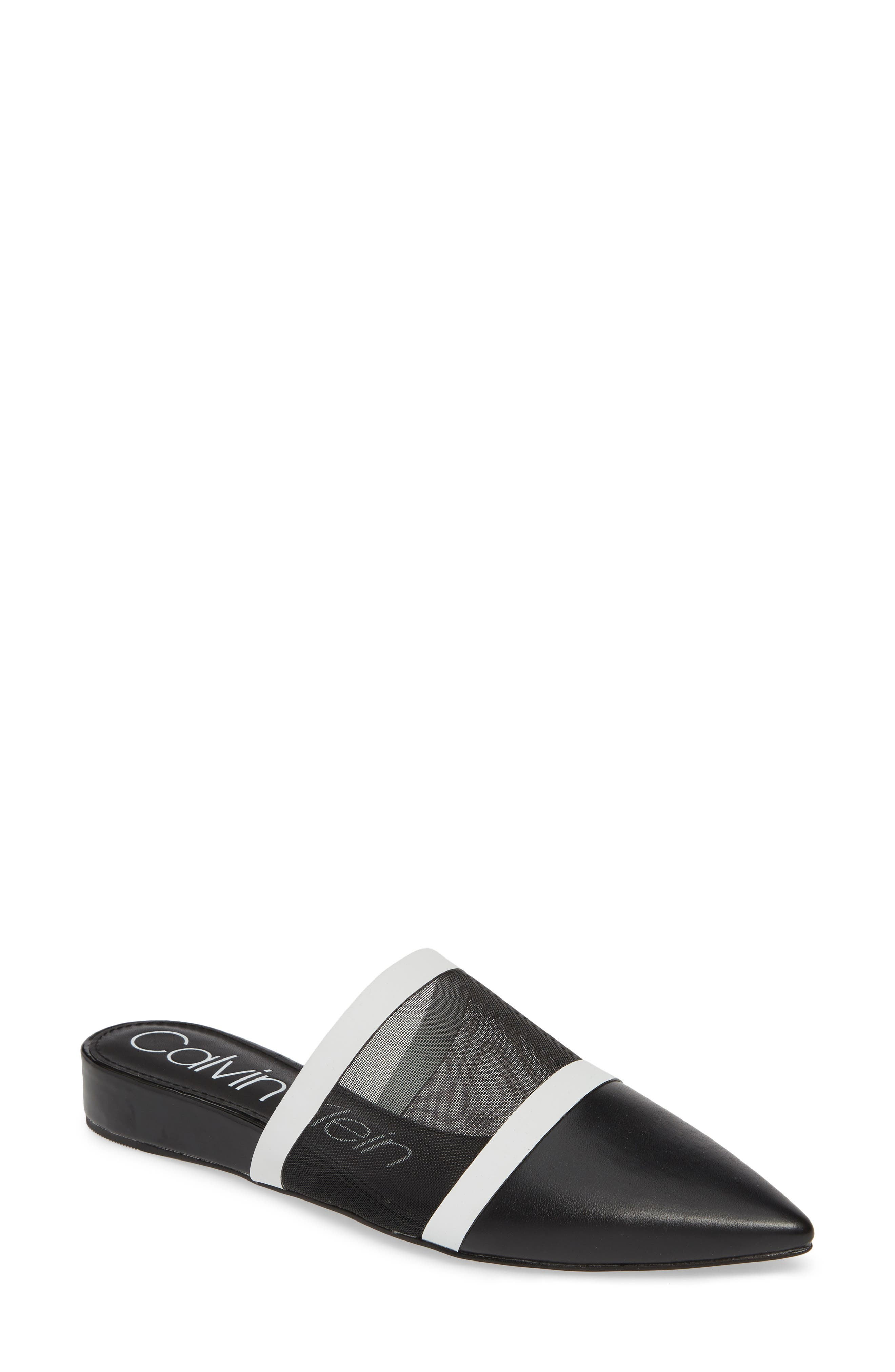 Calvin Klein Cardy Mesh Mule- Grey