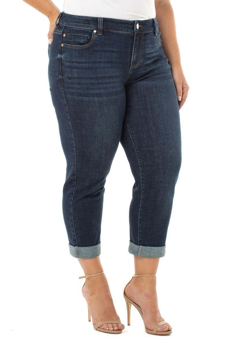 LIVERPOOL Peyton Slim Boyfriend Jeans, Main, color, OCALA