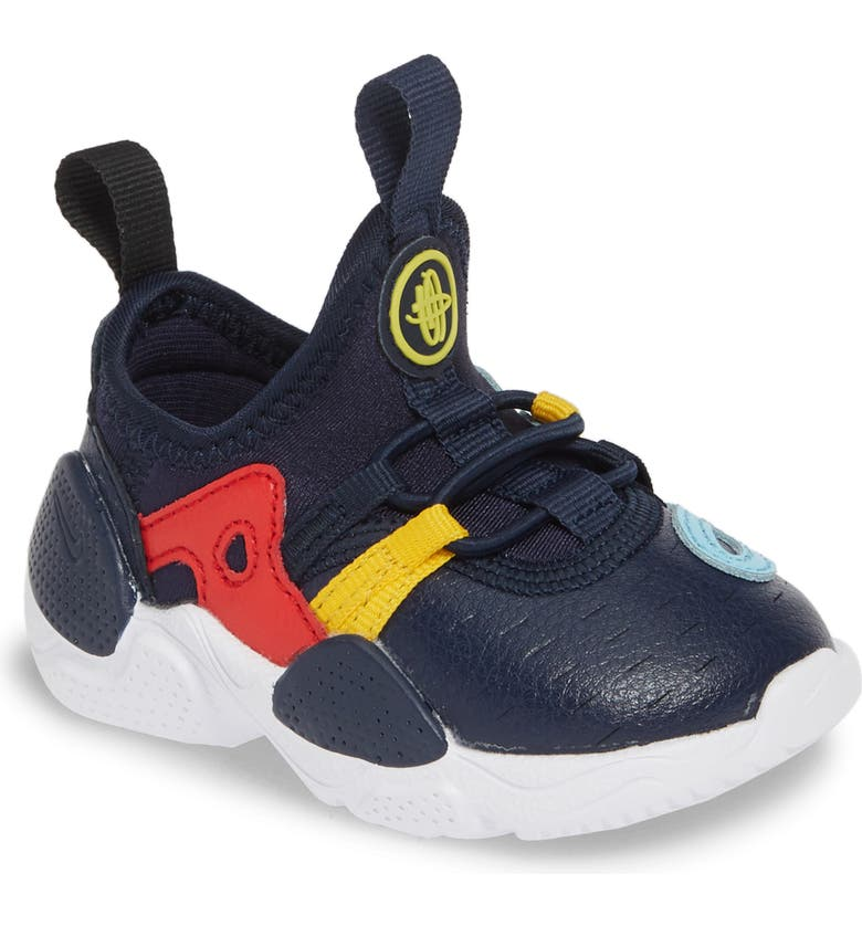 NIKE Huarache E.D.G.E. Sneaker, Main, color, OBSIDIAN/ WHITE-BLUE GAZE-RED