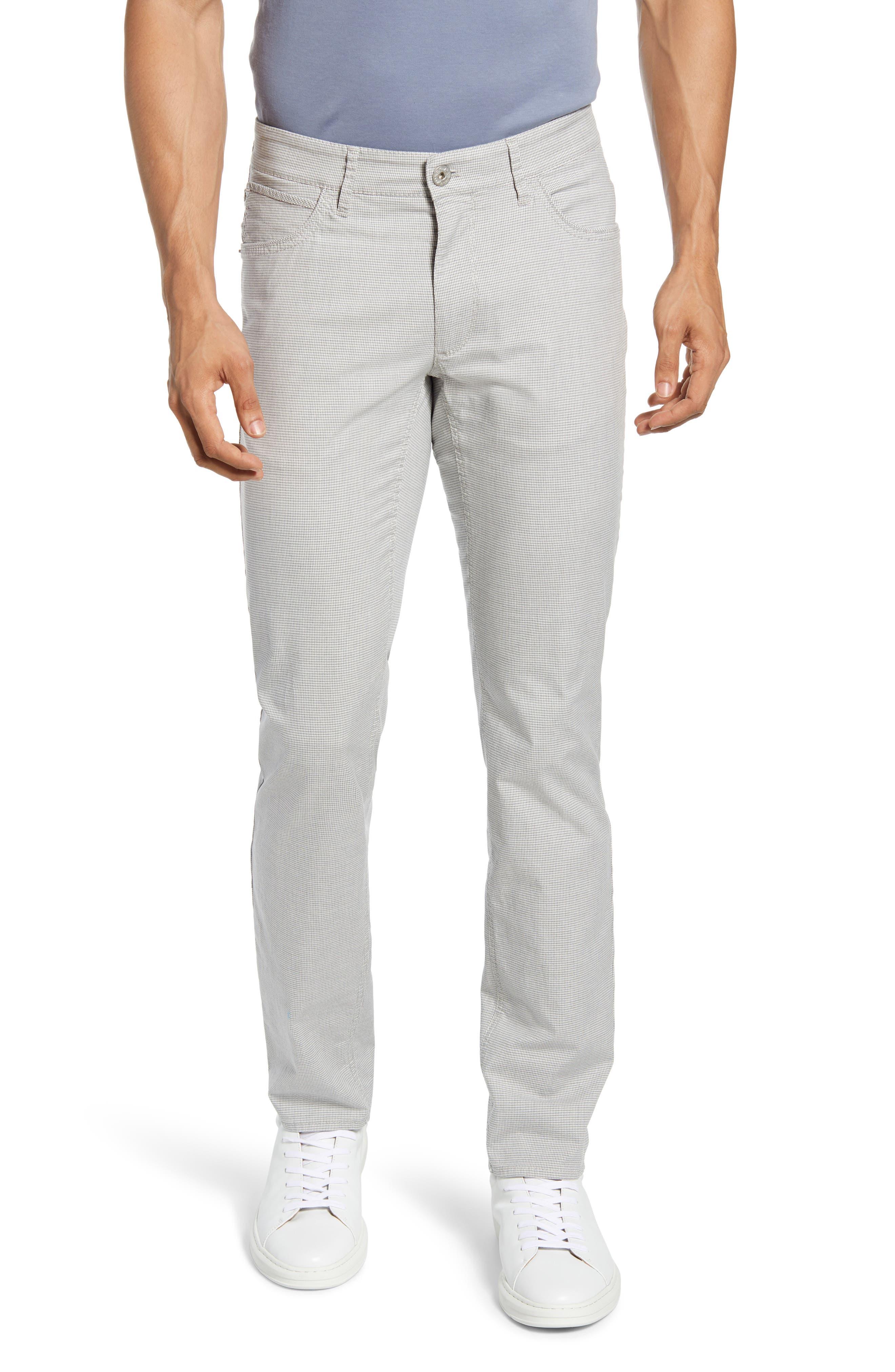 Chuck Houndstooth Stretch Cotton Five-Pocket Pants
