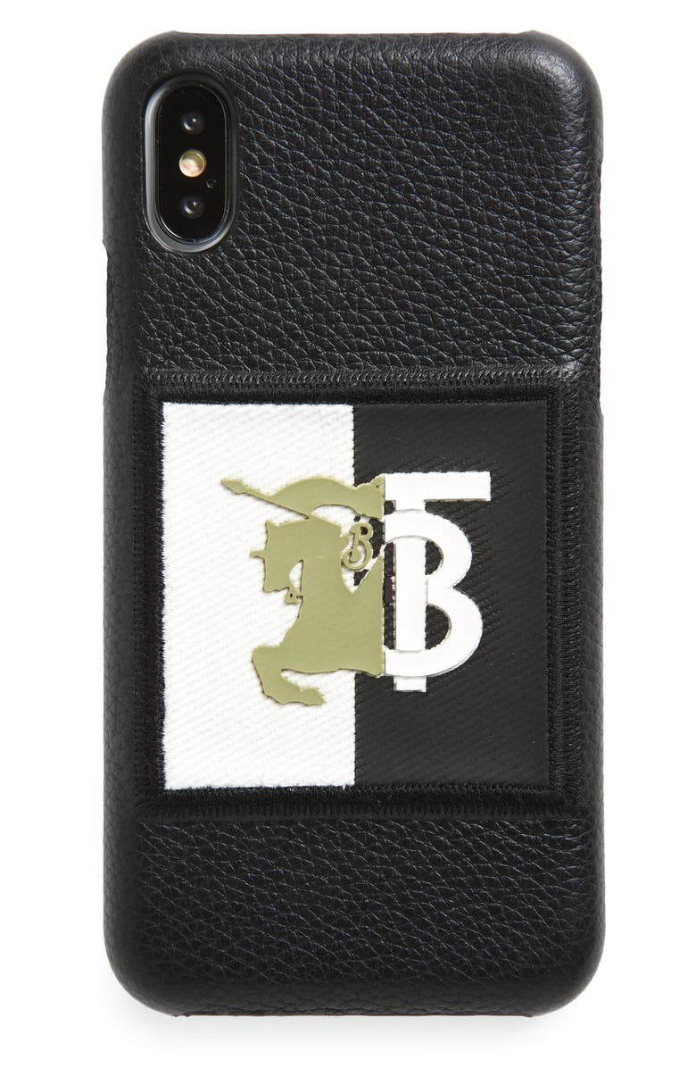 BURBERRY Rufus Knight iPhone X/Xs Case, Main, color, BLACK