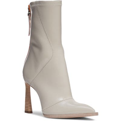 Fendi Tronchetto Pointed Toe Boot, Beige