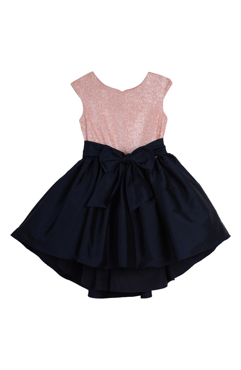 PIPPA & JULIE Sequin & Taffeta Dress, Main, color, PINK/ NAVY
