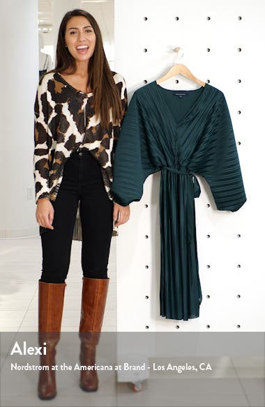 Regi Dolman Sleeve Plissé Dress, sales video thumbnail