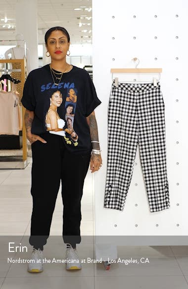 Gingham Tapered Trousers, sales video thumbnail