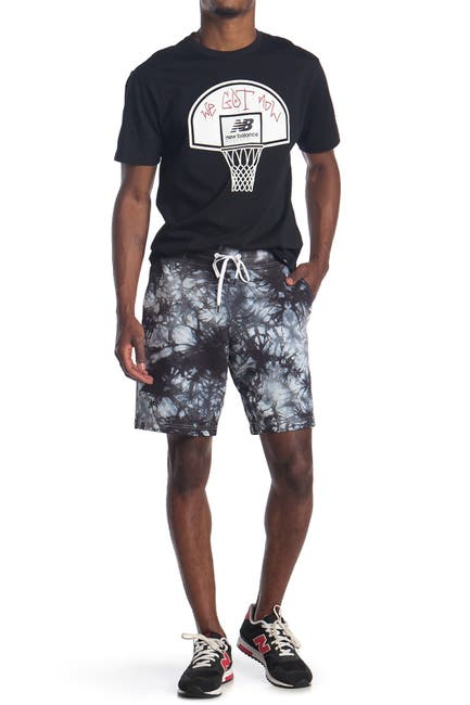 Image of New Balance Blacktop Tie Dye Shorts