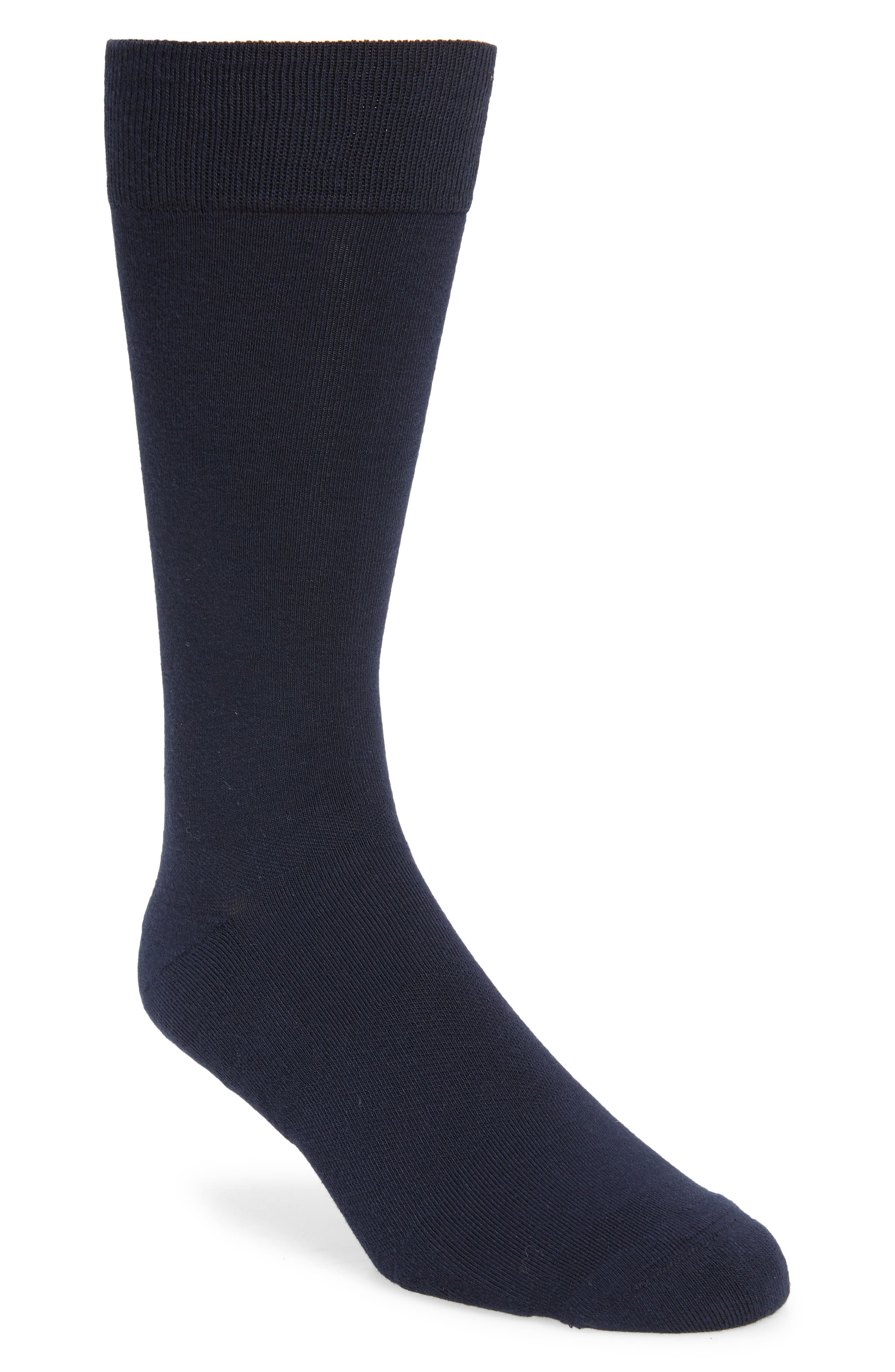 A breathable, moisture-wicking knit brings exceptional day-and-night comfort to tall dress socks styled for versatility in a dark solid. Style Name: Nordstrom Men\\\'s Shop Coolmax Solid Dress Socks. Style Number: 6036653. Available in stores.