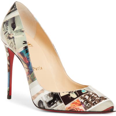 Christian Louboutin Pigalle Follies Collage Pump, Black