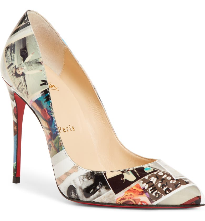 CHRISTIAN LOUBOUTIN Pigalle Follies Collage Pump, Main, color, BLACK COLLAGE