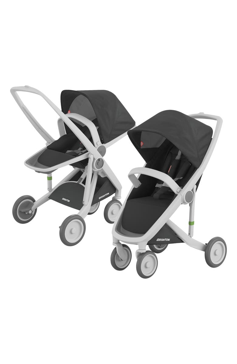GREENTOM 2-in-1 Stroller with Reversible & Classic Seat Options, Main, color, BLACK/ GREY FRAME