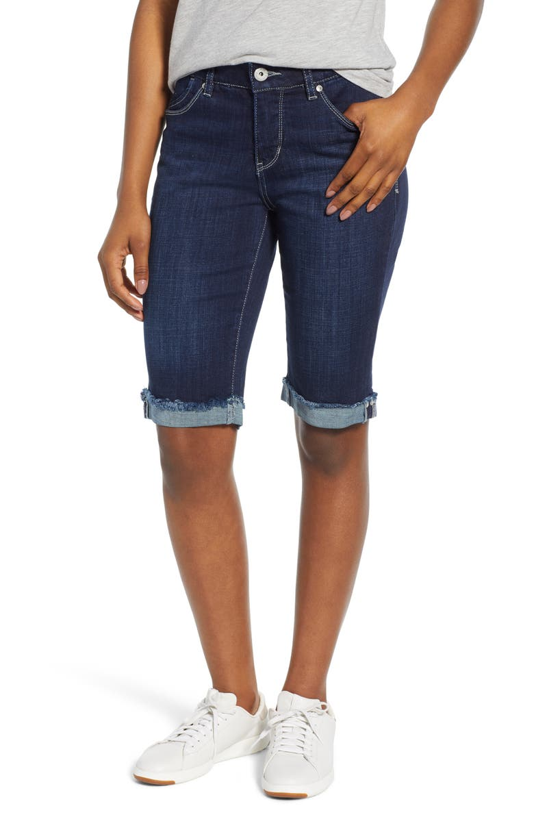 JAG JEANS Nina Raw Cuff Bermuda Shorts, Main, color, NIGHT BREEZE
