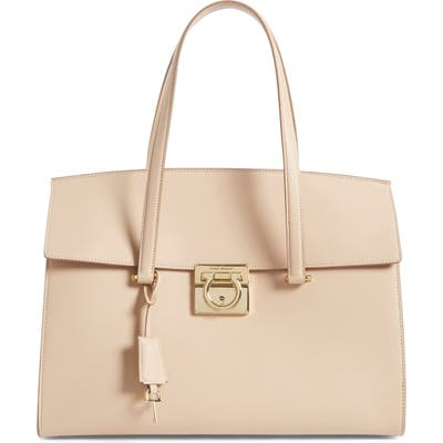 Salvatore Ferragamo Large Smooth Leather Satchel -