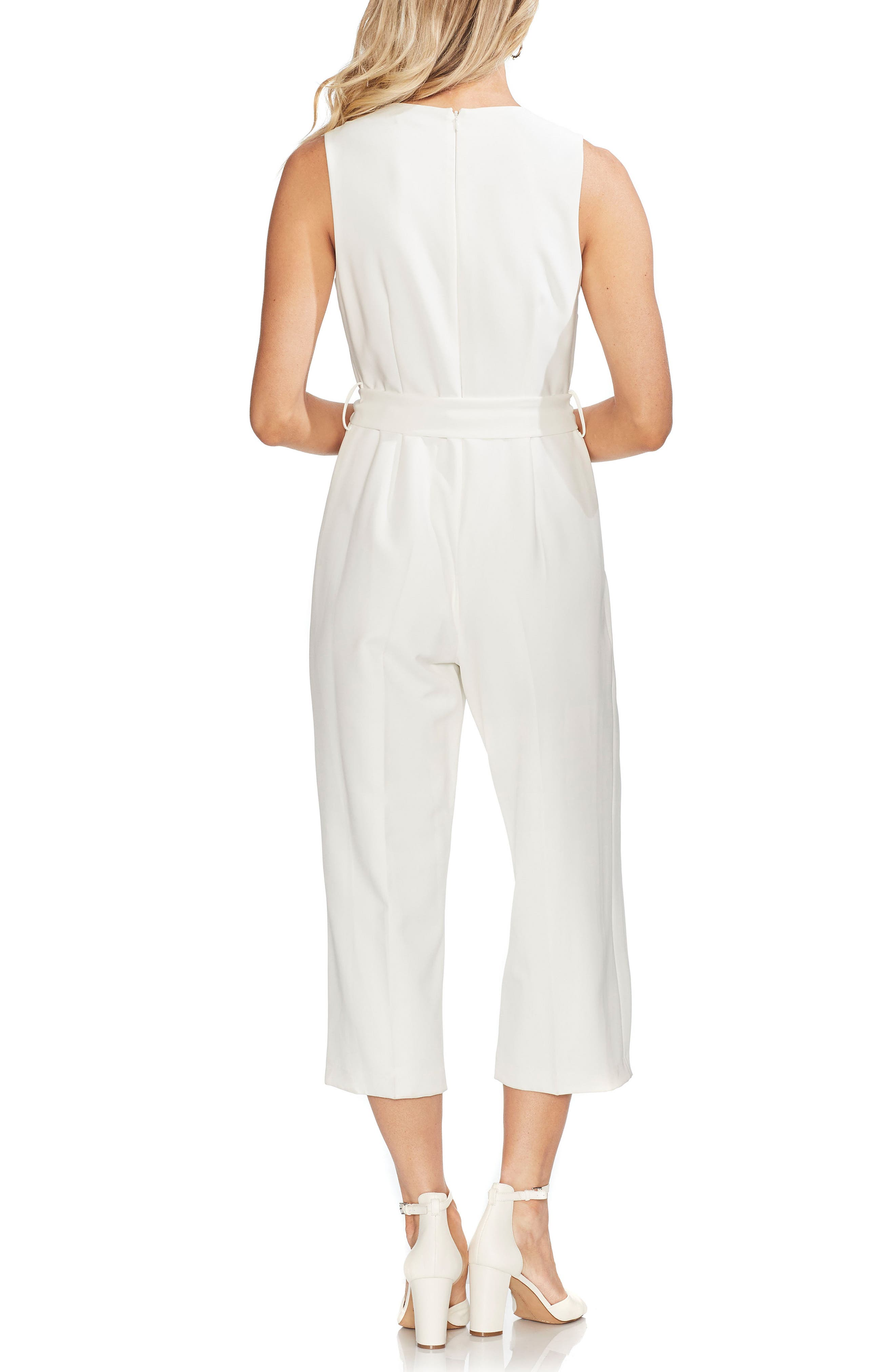 ,                             Belted Crop Jumpsuit,                             Alternate thumbnail 2, color,                             NEW IVORY