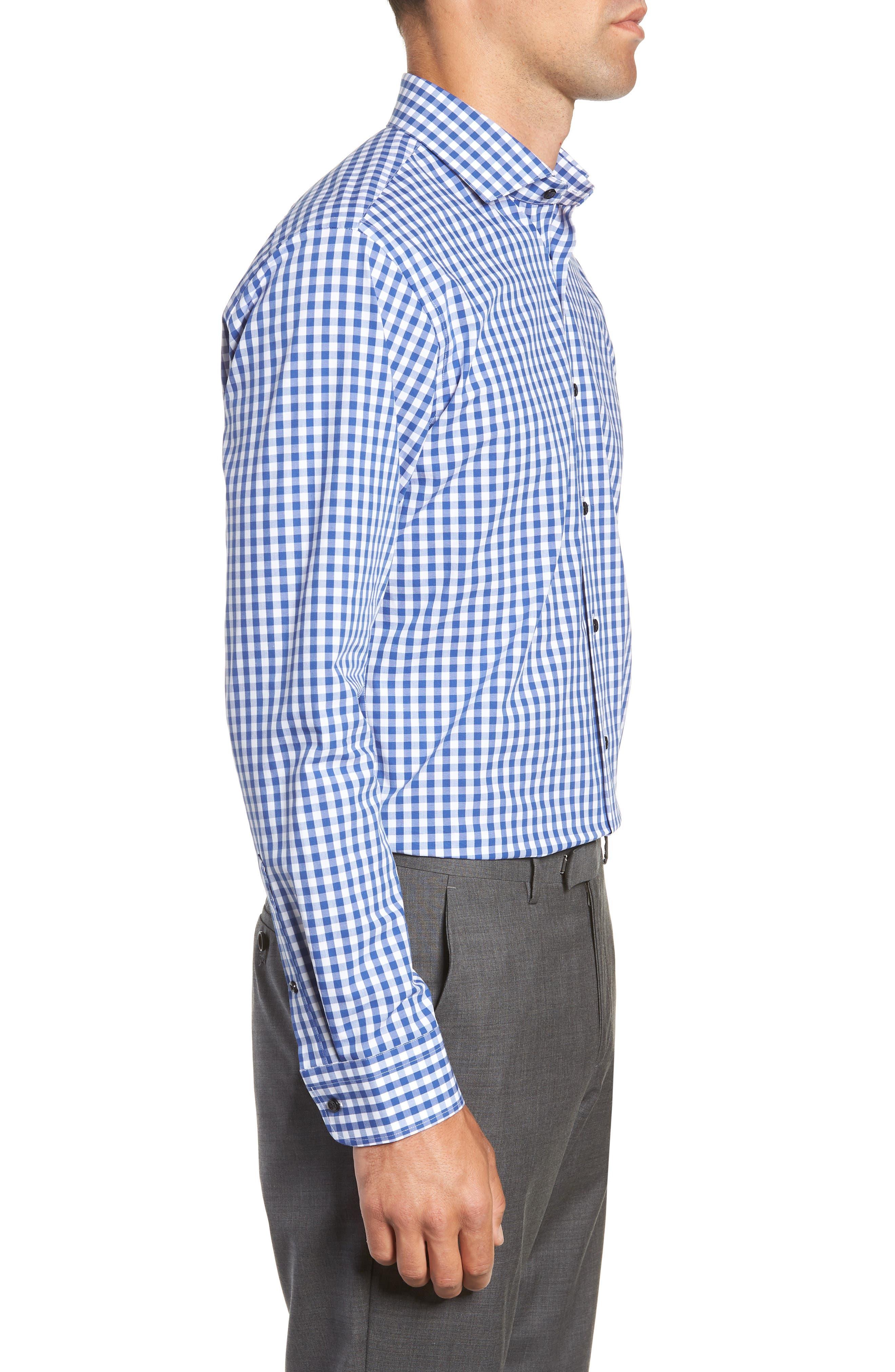 ,                             Tech-Smart Trim Fit Stretch Check Dress Shirt,                             Alternate thumbnail 30, color,                             420