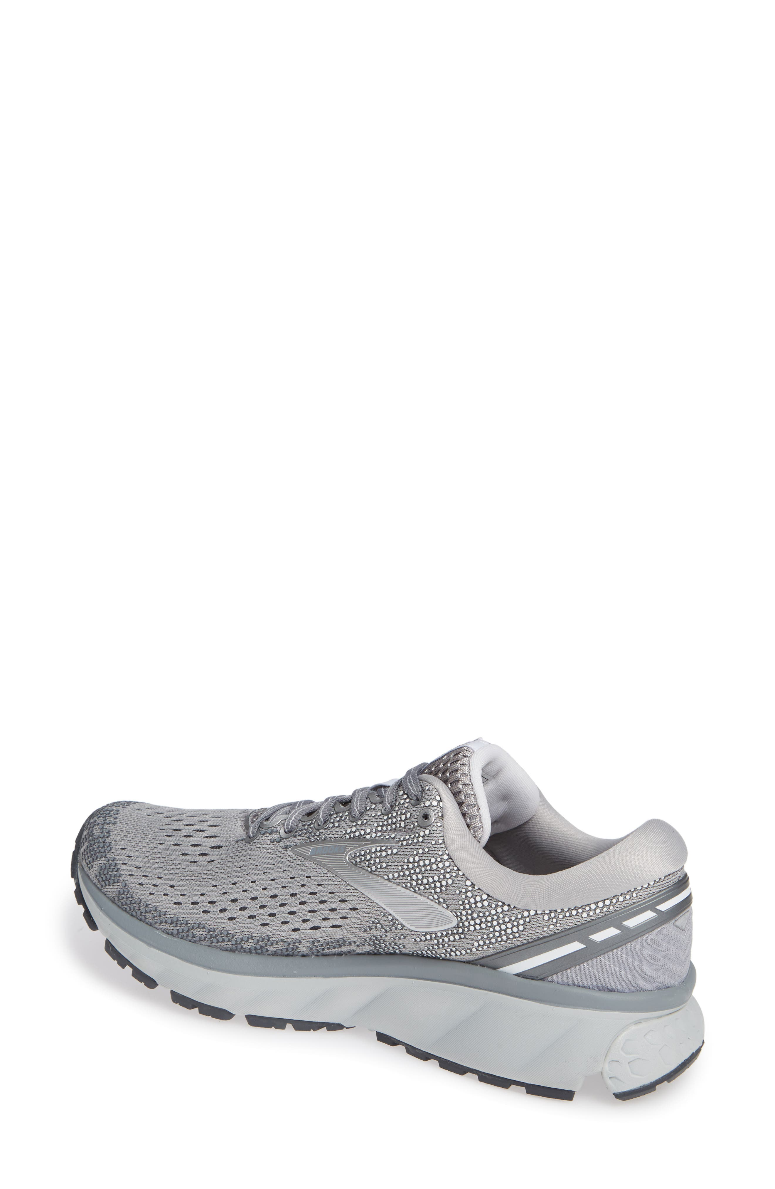 ,                             Ghost 11 Running Shoe,                             Alternate thumbnail 2, color,                             GREY/ SILVER/ WHITE