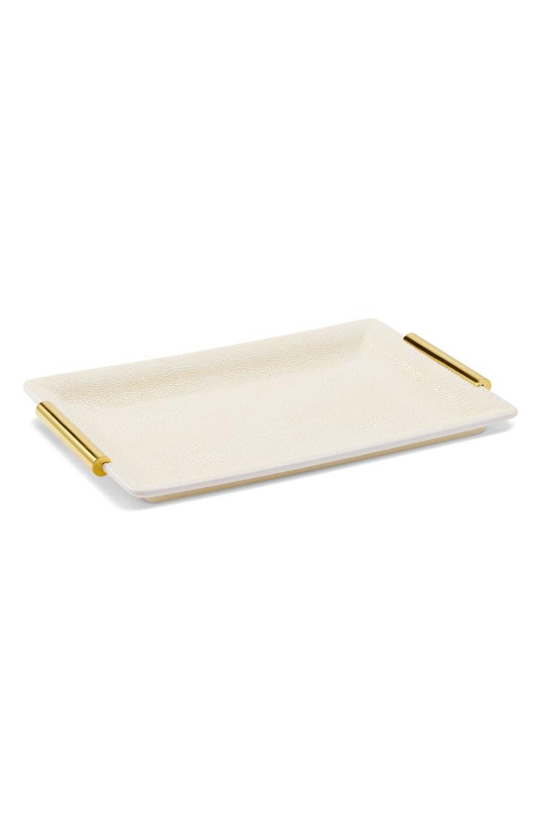 AERIN Small Shagreen Vanity Tray, Main, color, 900