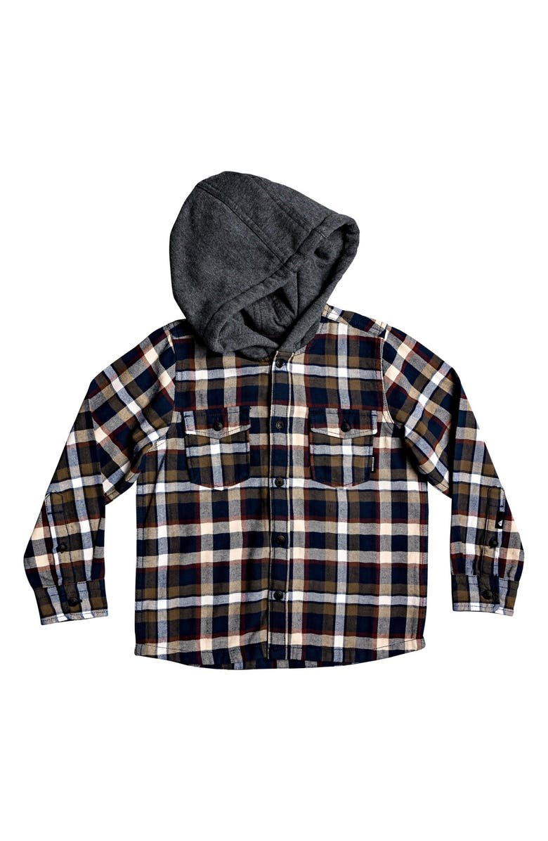 QUIKSILVER Flannel Hoodie, Main, color, 400
