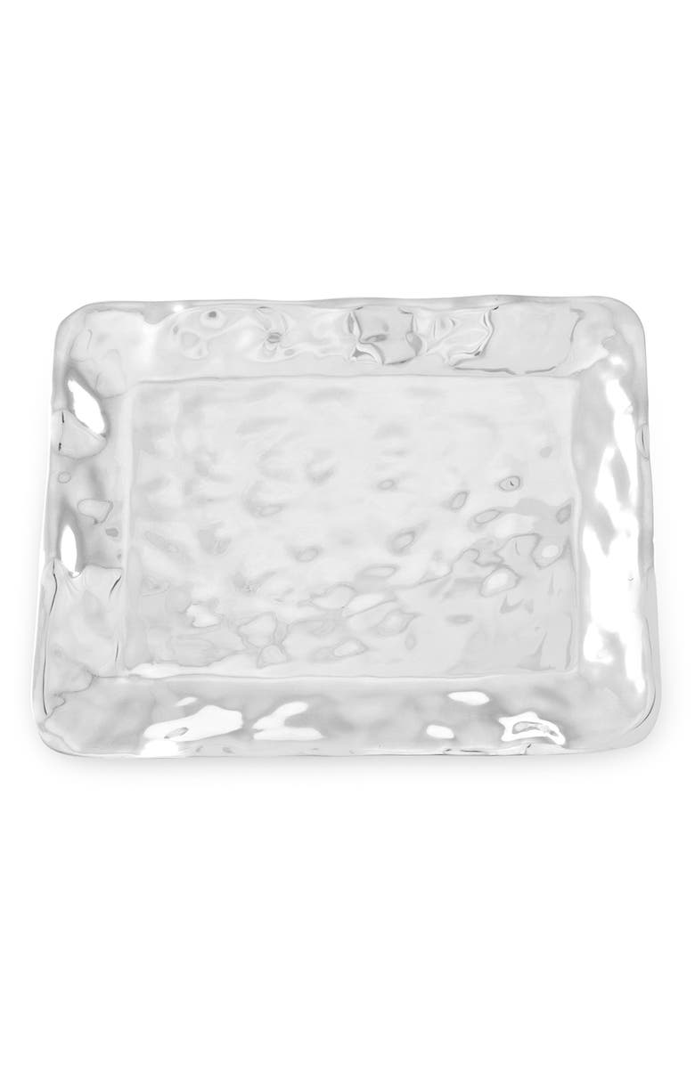 BEATRIZ BALL COLLECTION SOHO Brooklyn Rectangle Platter, Main, color, SILVER