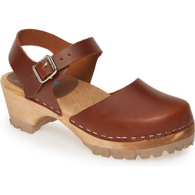 Mia Freja Platform Clog, Brown