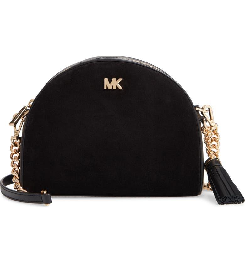57be78fc6c3 MICHAEL Michael Kors Ginny Half Moon Leather Crossbody Bag   Nordstrom