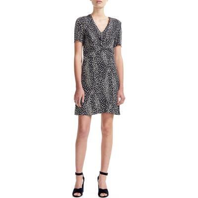 Maje Ripi Animal Print Dress, US / 40 FR - Black