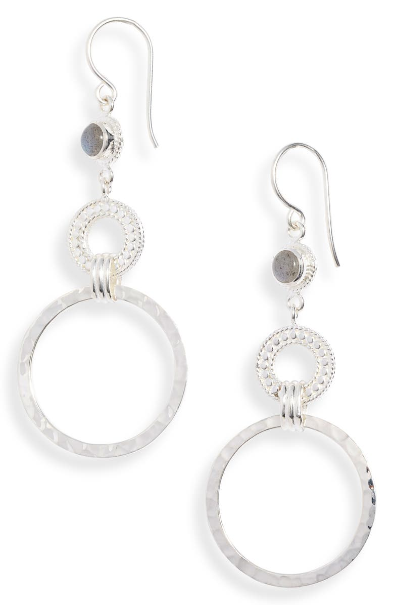 ANNA BECK Labradorite Hoop Drop Earrings, Main, color, 020