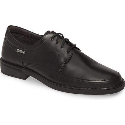 Pikolinos Bermeo Waterproof Plain Toe Derby - Black