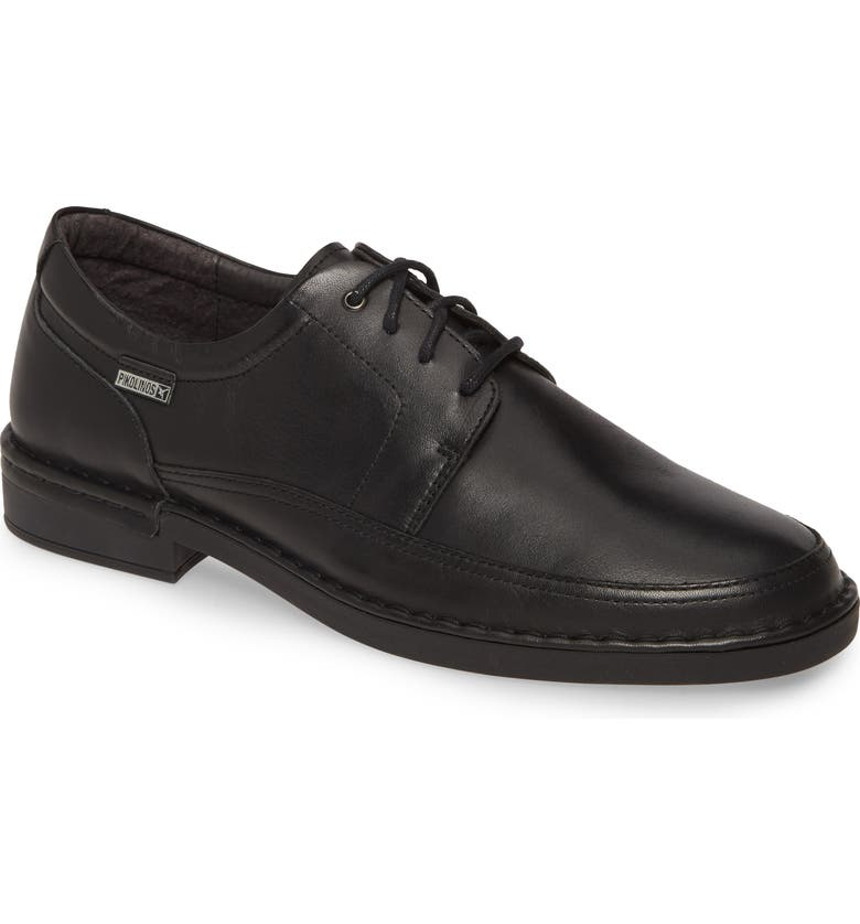 PIKOLINOS Bermeo Waterproof Plain Toe Derby, Main, color, BLACK LEATHER