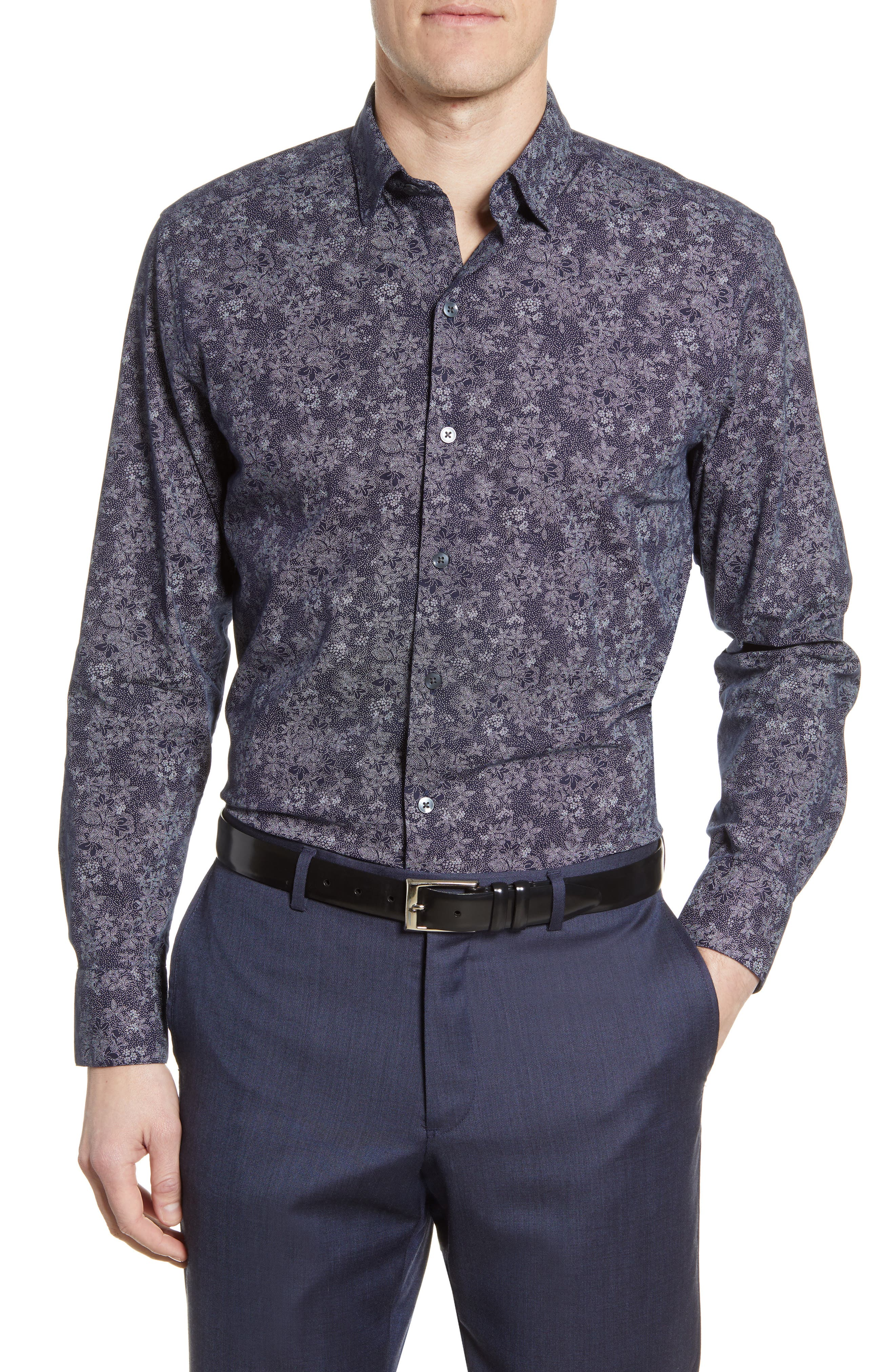 Image of ROBERT BARAKETT Welpren Floral Button-Up Shirt