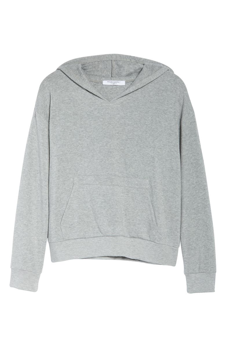 PROJECT SOCIAL T Fleece Hoodie, Alternate, color, H. GREY