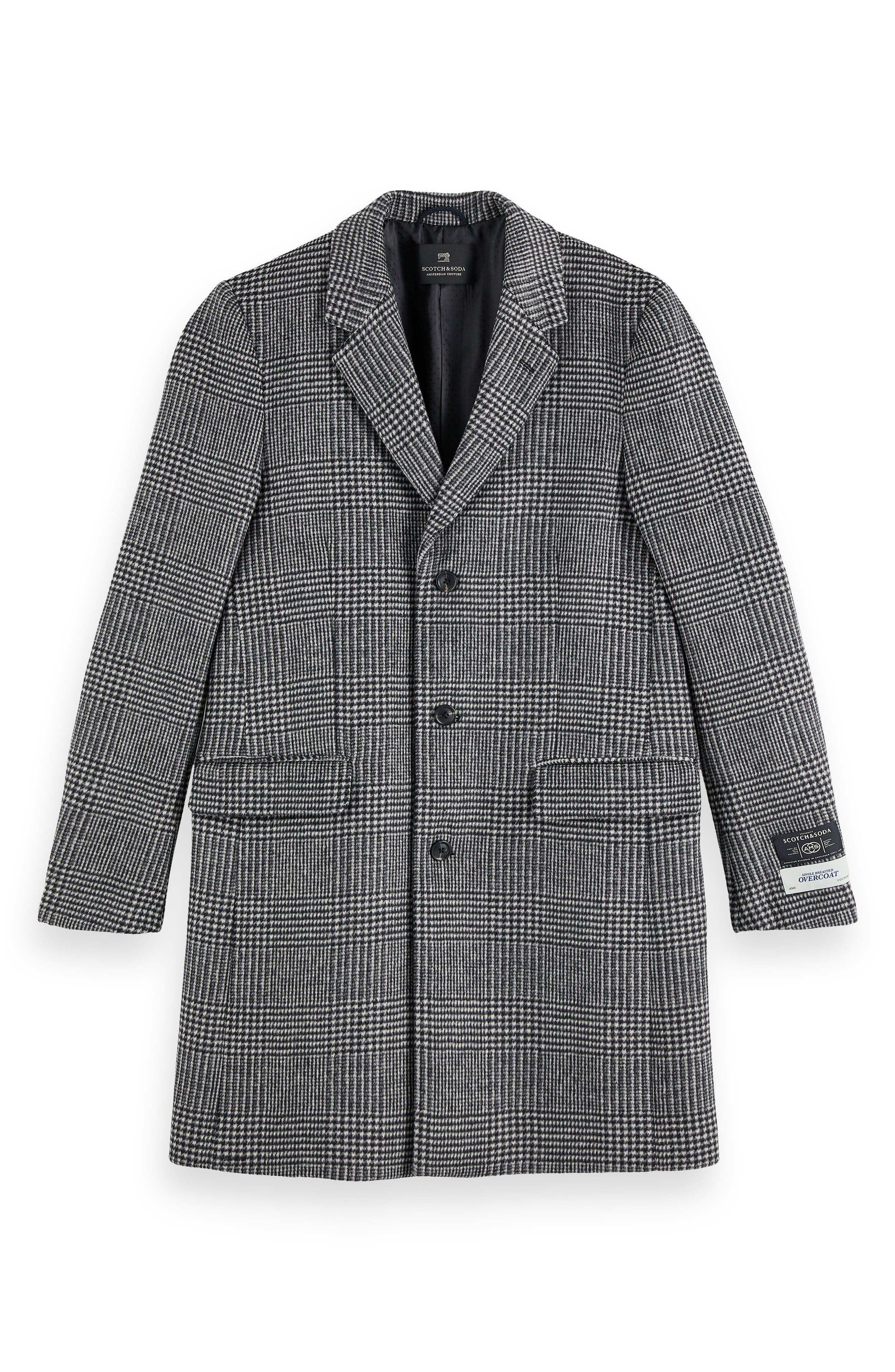 50s Men's Jackets | Greaser Jackets, Leather, Bomber, Gabardine Mens Scotch  Soda Houndstooth Plaid Overcoat Size Small - Grey $449.00 AT vintagedancer.com