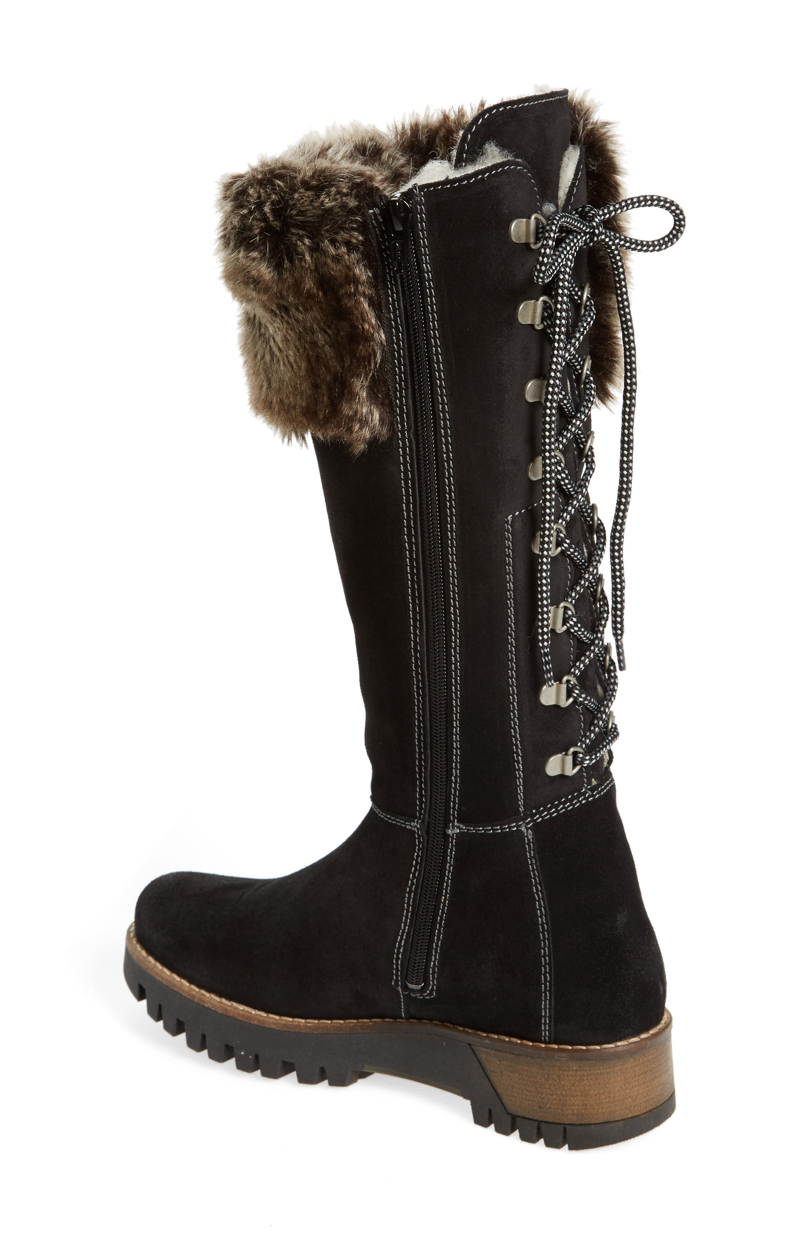 ,                             Graham Waterproof Winter Boot with Faux Fur Cuff,                             Alternate thumbnail 2, color,                             001