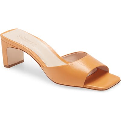 Schutz Queliana Slip-On Sandal, Brown