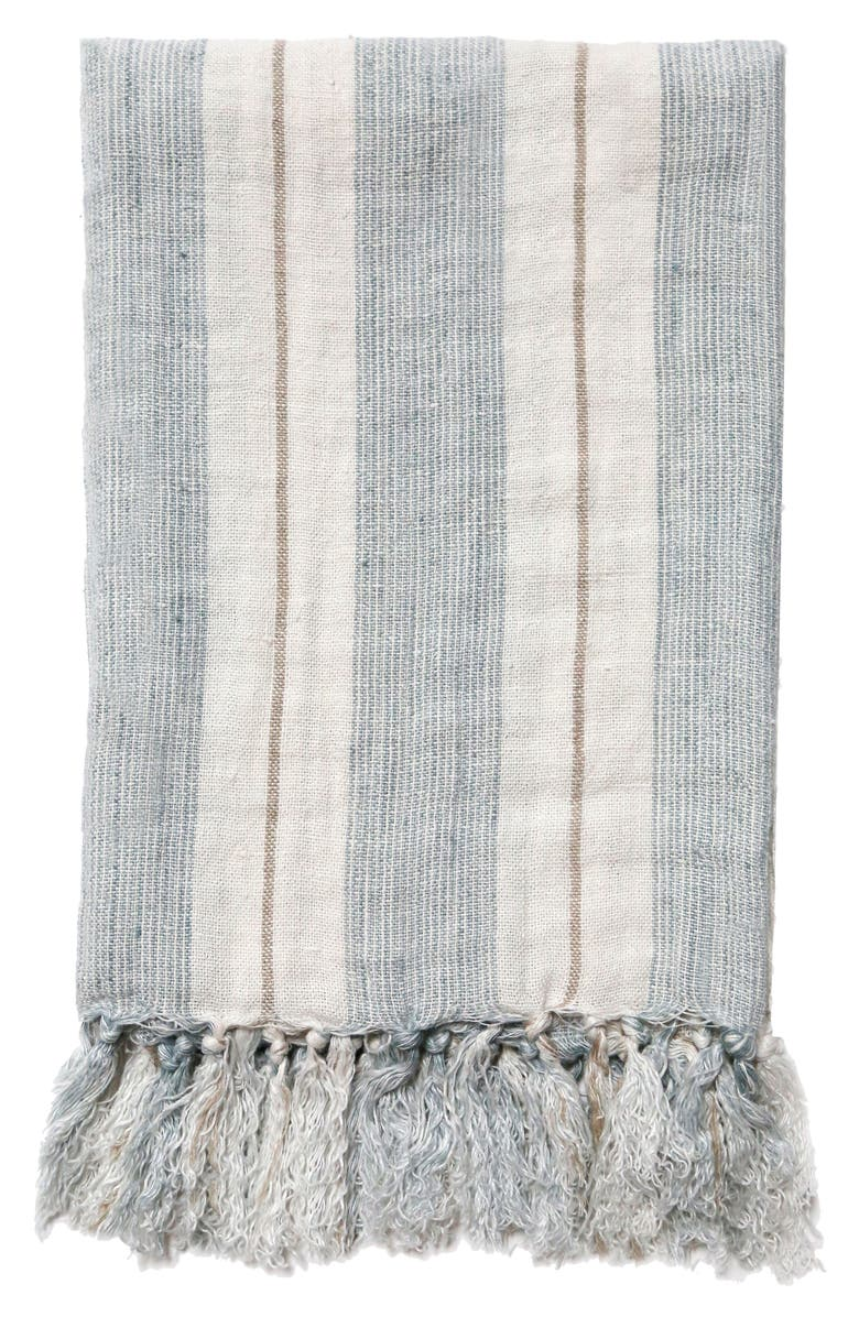 POM POM AT HOME Laguna Throw Blanket, Main, color, BLUE